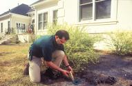 technician inspects for termite activity