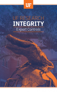 UF Research Integrity – Export Controls brochure cover