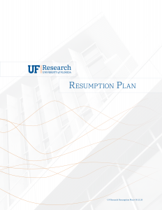 UF Research Resumption Plan cover image